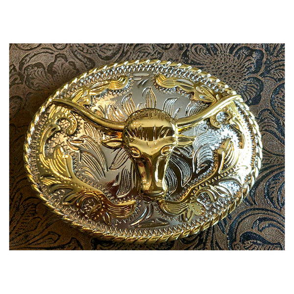 Longhorn Oval Rodeo Buckle BU-287