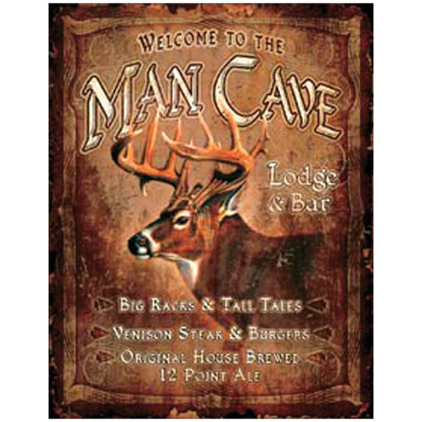 Man Cave Big Buck Deer Tin Sign SGN-425