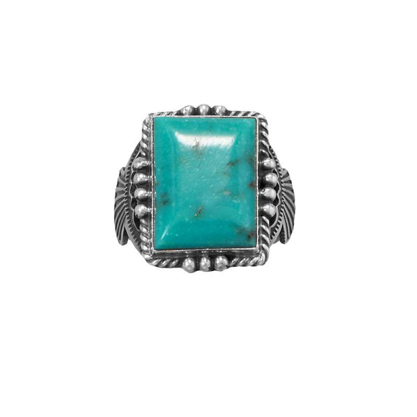 Mens Navajo Turquoise Ring 83831