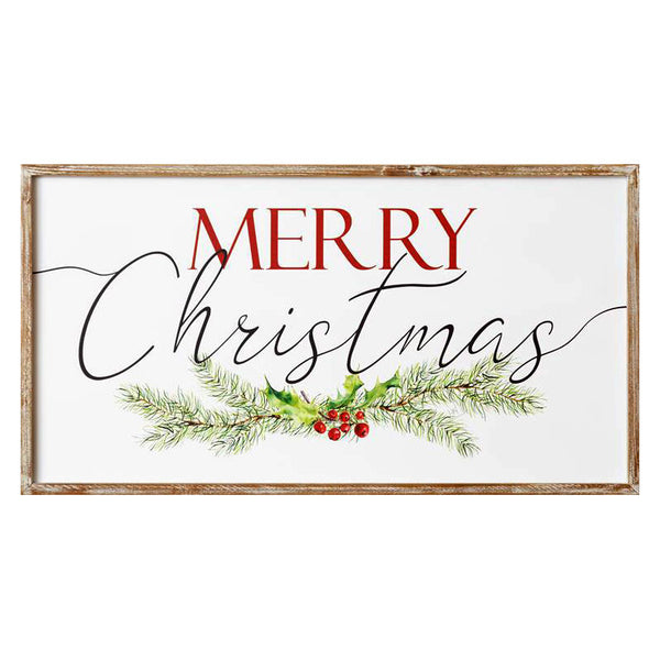 Merry Christmas Framed Sign 7W3025