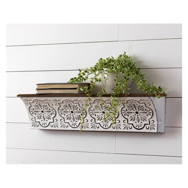 Metal Embossed Medallion Wall Shelf 8WH791