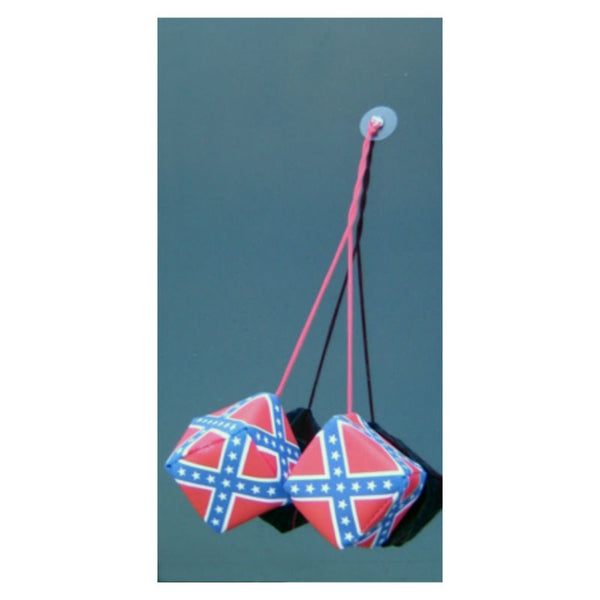 Stars and Bars Flag Mini Hanging Dice
