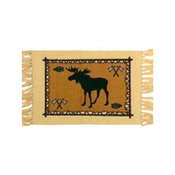 Moose Stencil Tapestry Placemat W-HIMAT76B