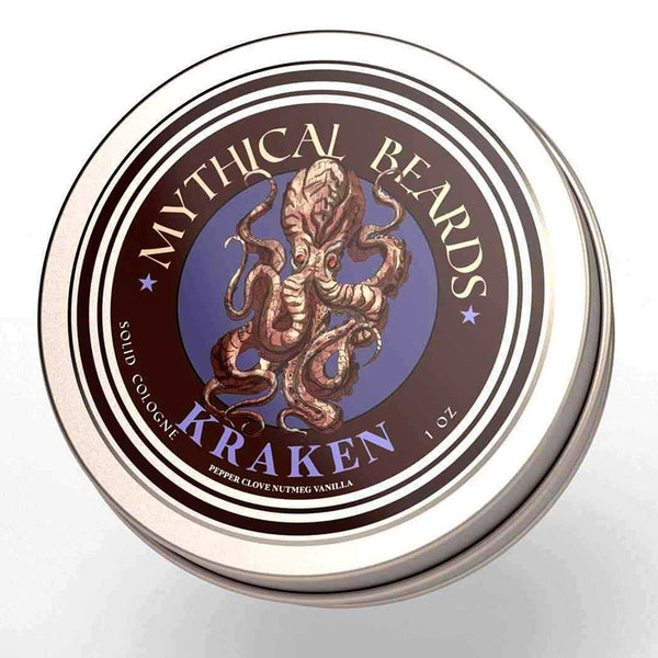 Mythical Beards Mens Solid Cologne Balm Kraken COLKRAK
