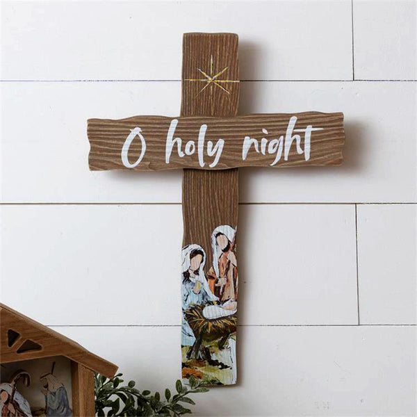 Oh Holy Night Wall Cross 7W3022