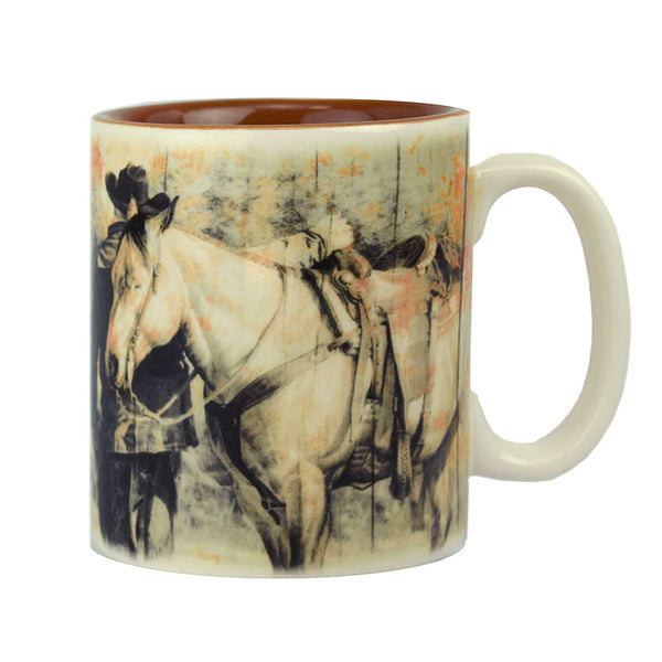 Outside Of A Horse Ceramic Mug 2674