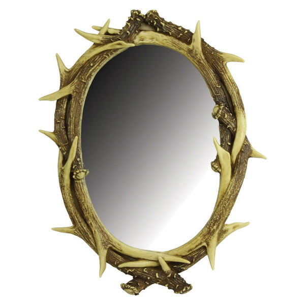 Oval Deer Antler Mirror 887