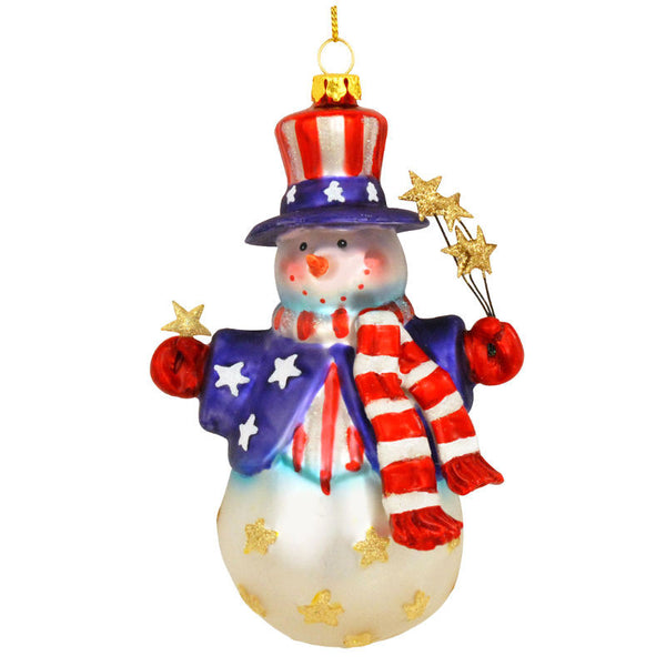 Patriotic Snowman Ornament 1148194