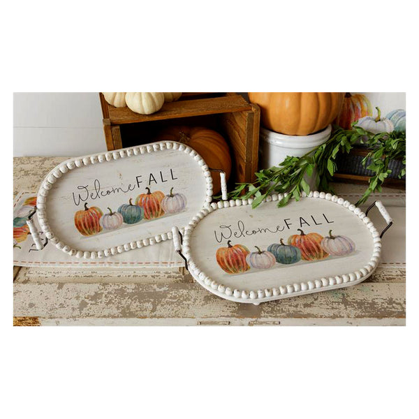 Pick Of The Patch Pumpkins Oval Serving Trays 6W2942