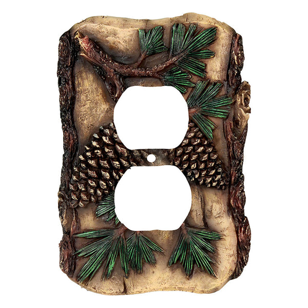 Pine Cone Duplex Outlet Cover 565