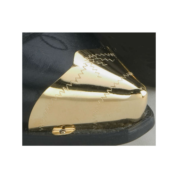 Pointed Brass Zig Zag Boot Toe Tips WX-17