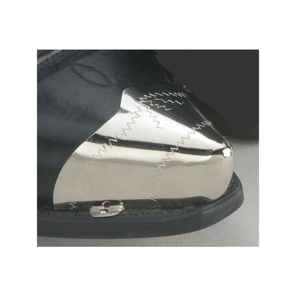 Pointed Silver Zig Zag Boot Toe Tips WX-16