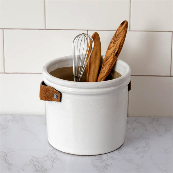 Pottery Kitchen Utensils Crock with Handles 8PT1324