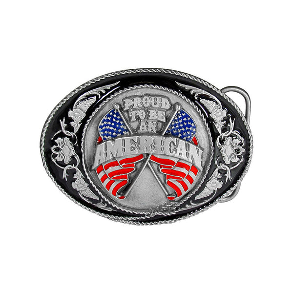 Proud To Be An American Belt Buckle J-5