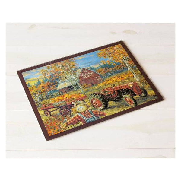 Pumpkin Patch Autumn Glass Cutting Board 6G0234