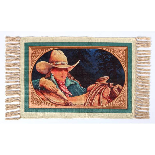 Ready To Ride Cowgirl Digital Print Placemat W-DMAT112