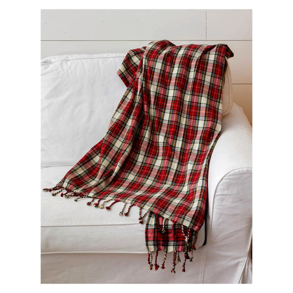 Red and Black Tartan Plaid Throw Blanket 7FA1192