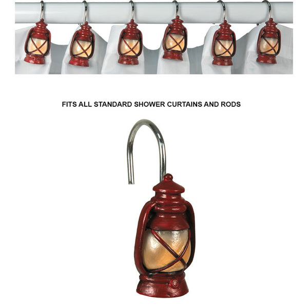 Red Lantern Shower Curtain Hooks 649