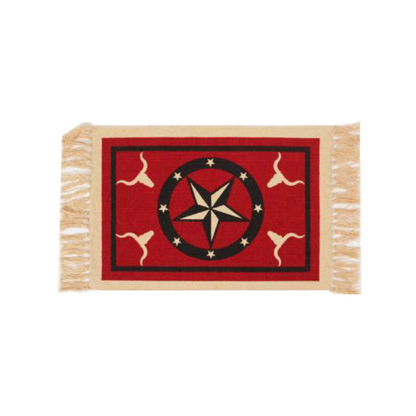 Red Star Steer Stencil Tapestry Placemat W-HIMAT160