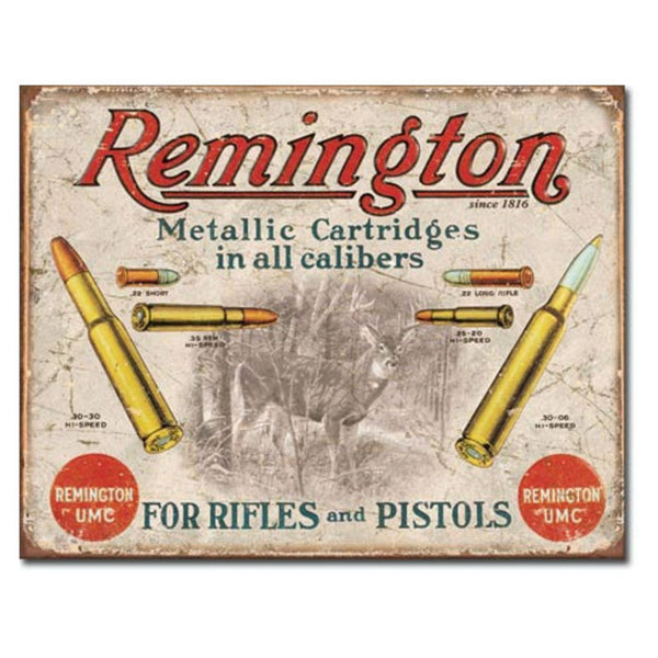 Remington for Rifles and Pistols Tin Sign T1788