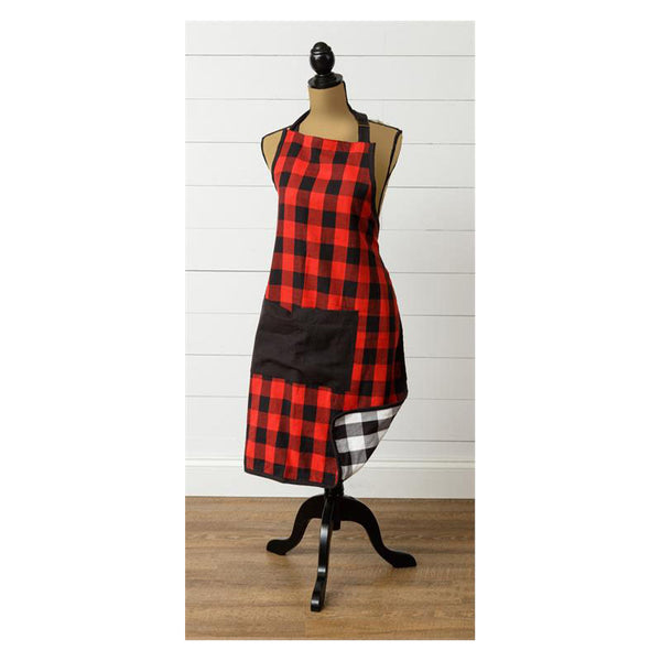 Reversible Buffalo Plaid Kitchen Apron 8FA1280