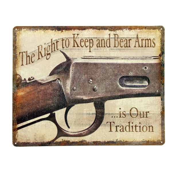 Right To Keep And Bear Arms Tin Sign TN516