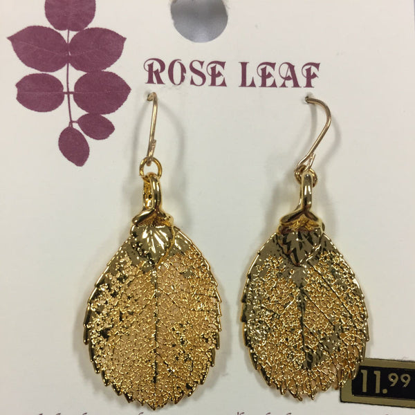 Rose Gold Leaf Earrings CJROSE2