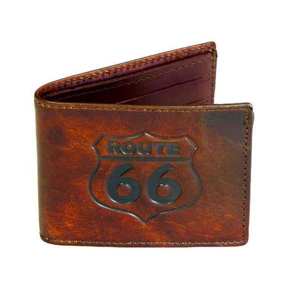 Route 66 Brown Leather Bifold Wallet LW-606