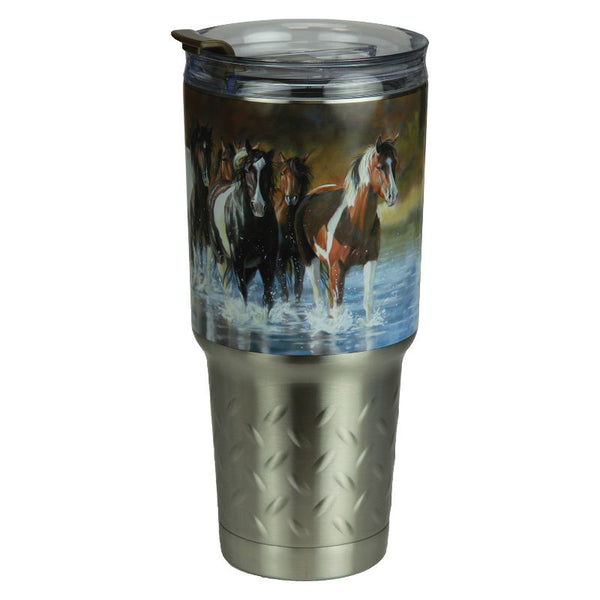 Rush Hour Horses 32 Oz Stainless Steel Insulated Mug 2146
