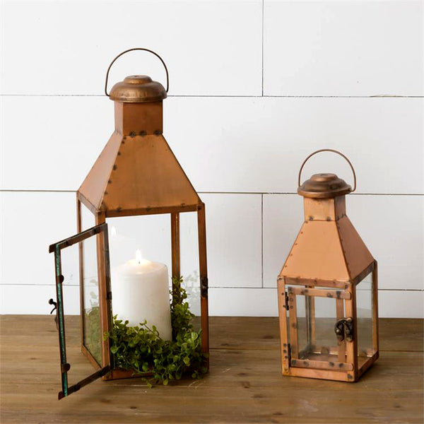 Rustic Copper Lanterns 8LN693