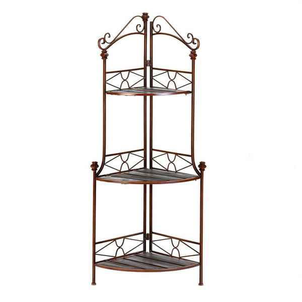 Rustic Corner Bakers Rack 12517