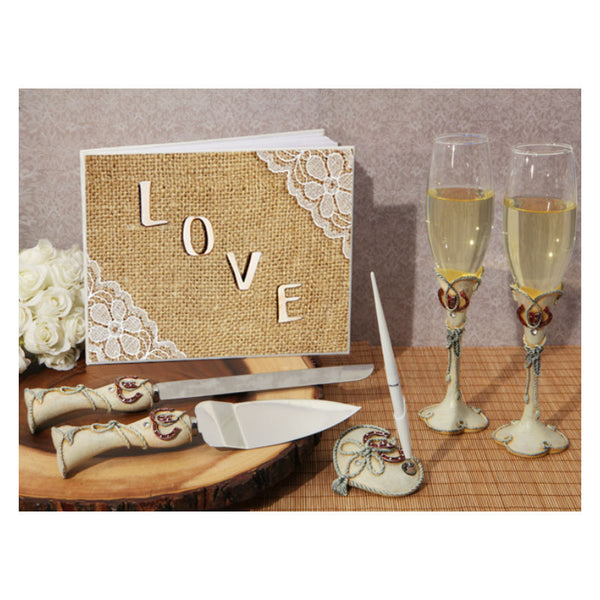 Rustic Love Wedding Accessory Set WSET9605