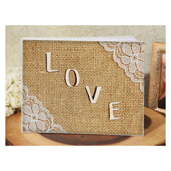 Rustic Love Wedding Guest Book GB9605