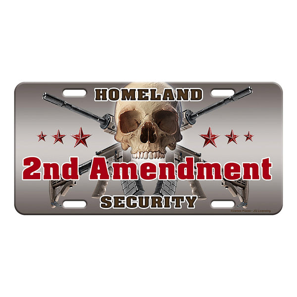 Second Amendment Homeland Security Vanity License Plate 2696