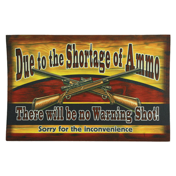 Shortage of Ammo Door Mat 2511