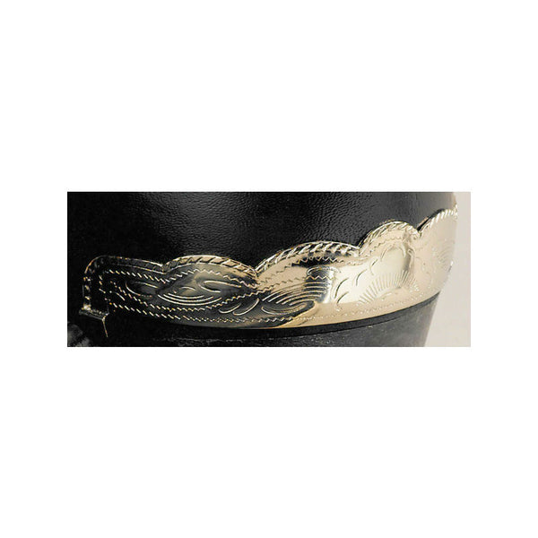 Silver Plated Cowboy Boot Heel Guards WX-36