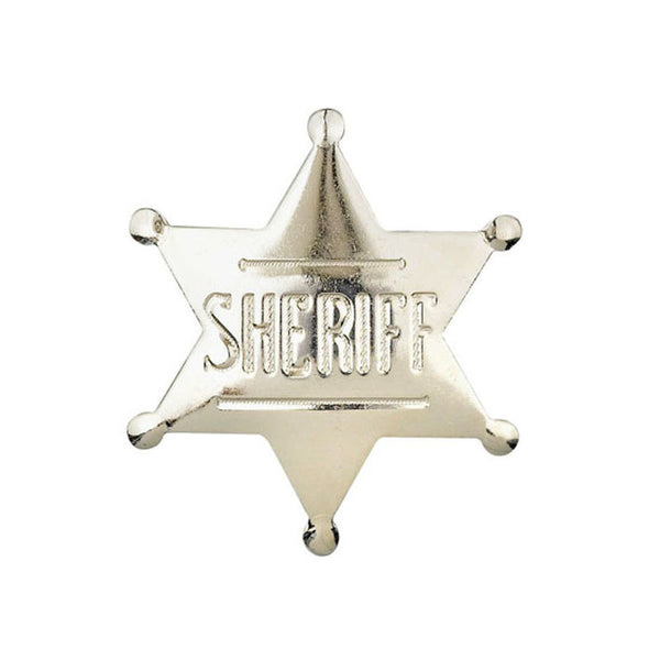 Silver Sheriff Badge Pin P-572-S