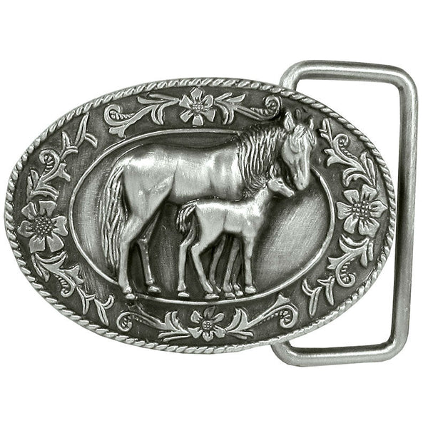 Small Mare and Colt Belt Buckle G-4000