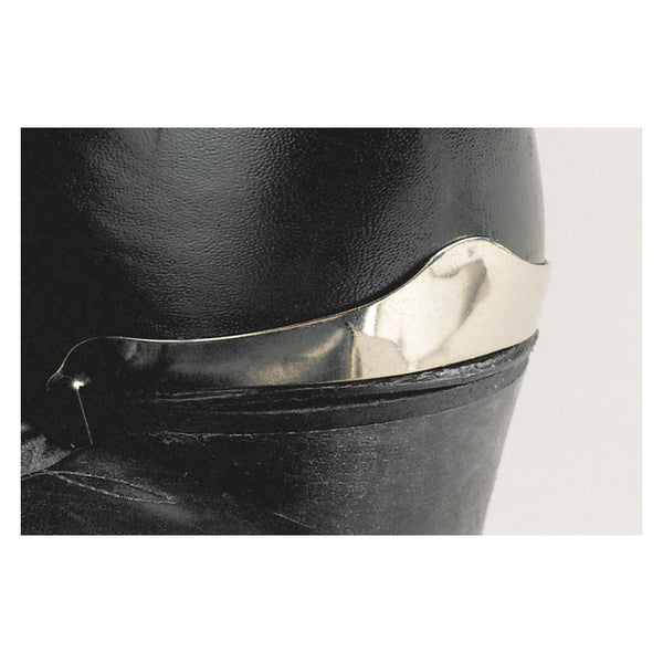Smooth Silver Boot Heel Guards WX-8