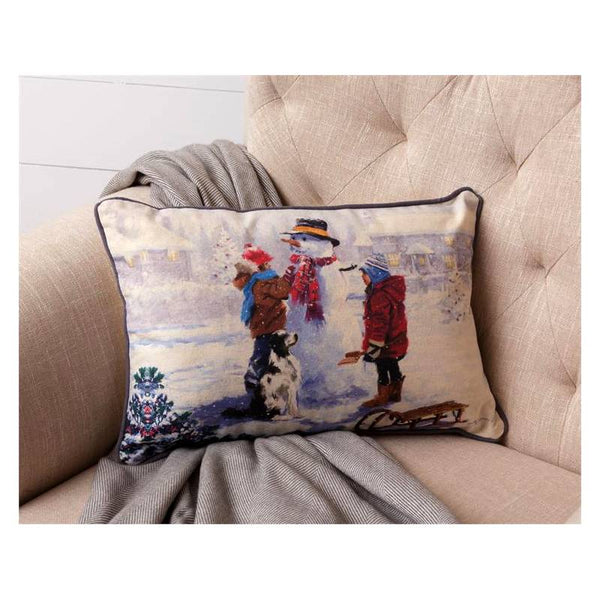Snow Day Snowman Throw Pillow 7P5869