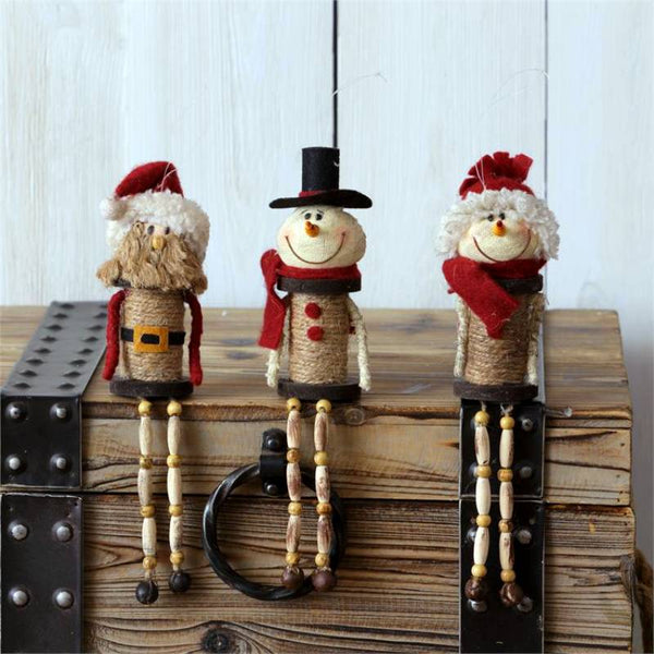 Snowmen and Santa Spool Shelf Sitters 6W2767