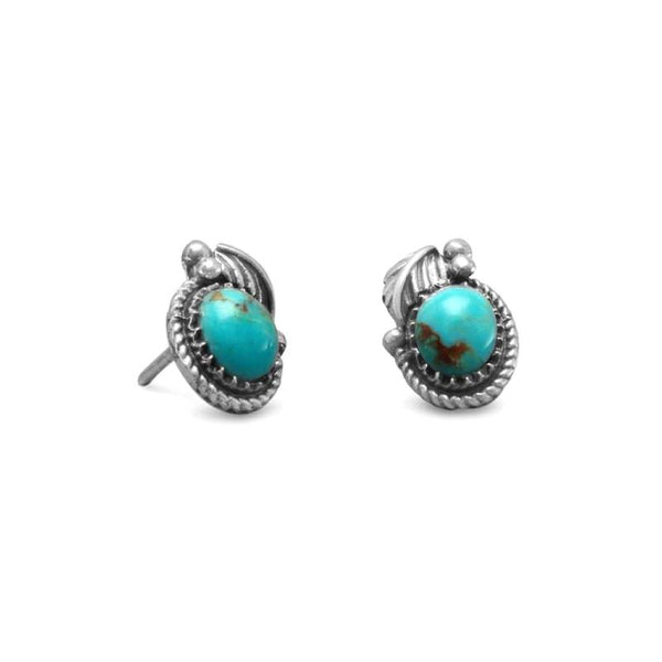 Southwest Style Turquoise Stud Earrings 65569