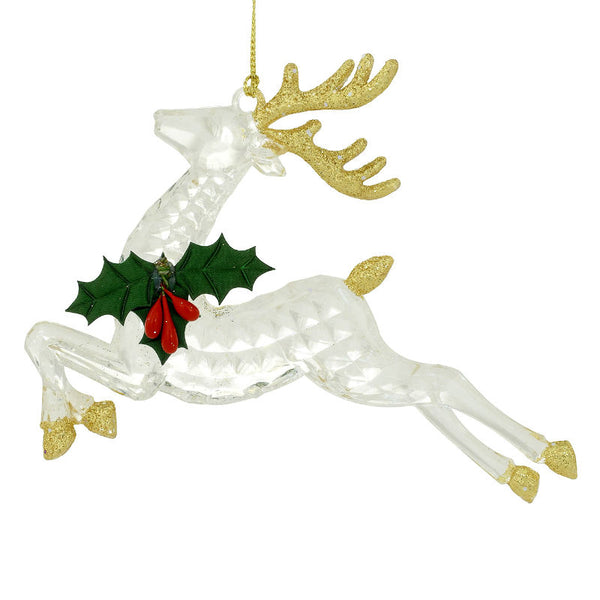 Sparkling Golden Reindeer Ornaments 1202026