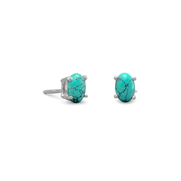 Stabilized Turquoise Stud Earrings 65406