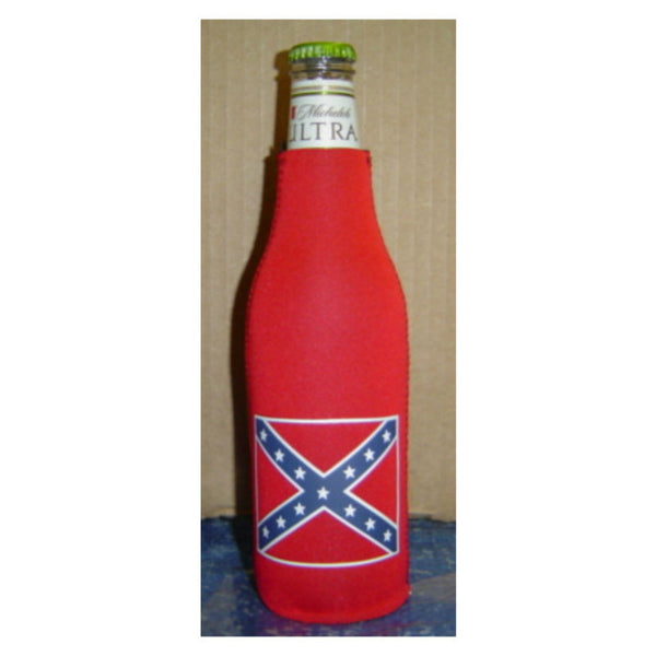 Stars and Bars Flag Bottle Koosie 1690