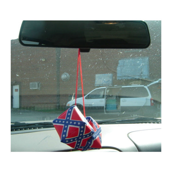 Stars and Bars Flag Mini Hanging Dice 1653