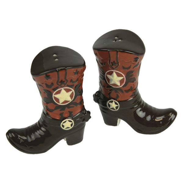 Stars Cowboy Boots Salt and Pepper Shakers 2063