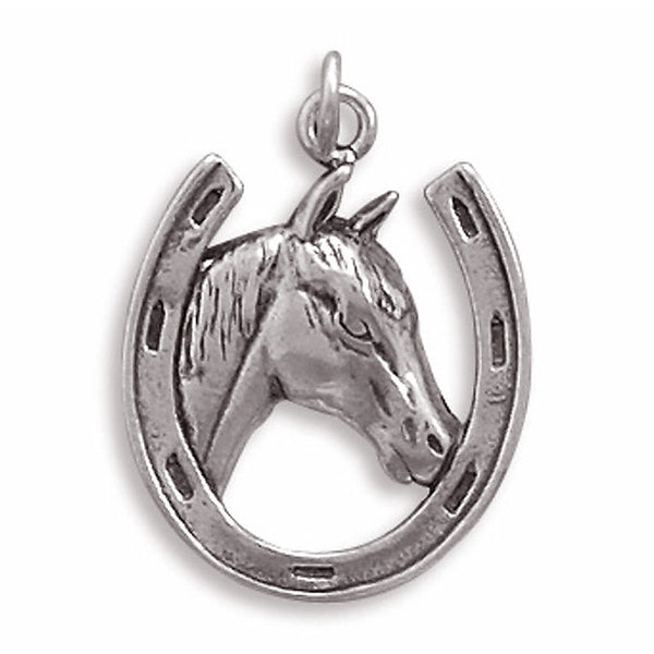 Sterling Silver Horseshoe Charm 72222