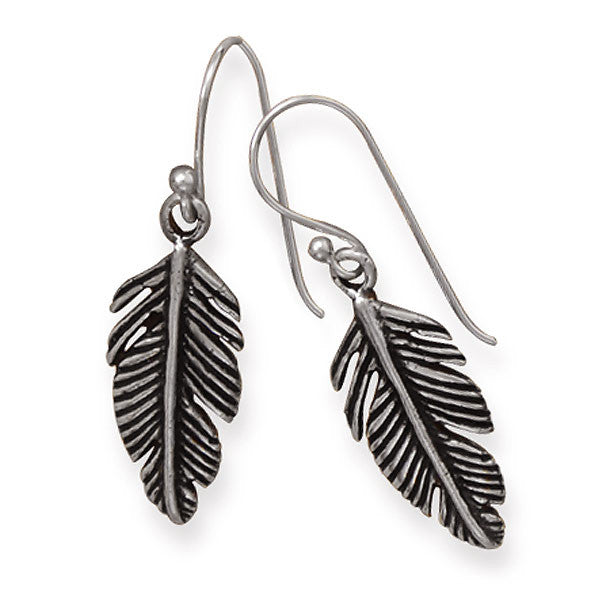 Sterling Silver Pinna Feather Earrings 65715