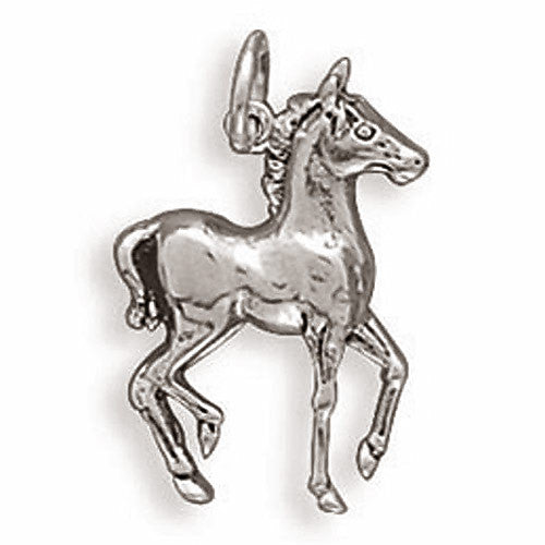 Sterling Silver Prancing Horse Pendant 72230